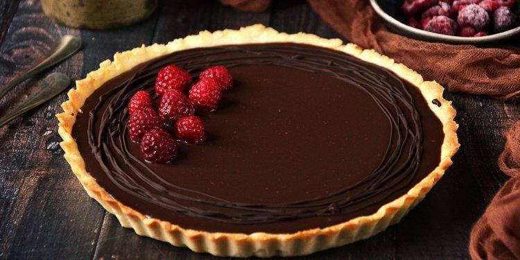 Málnás-csokis tart recept - málna-csokoládé pite készítése