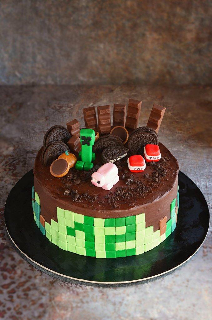 Minecraft torta készítése házilag - doboskrém recept - fondant Minecraft figurák egyszerűen