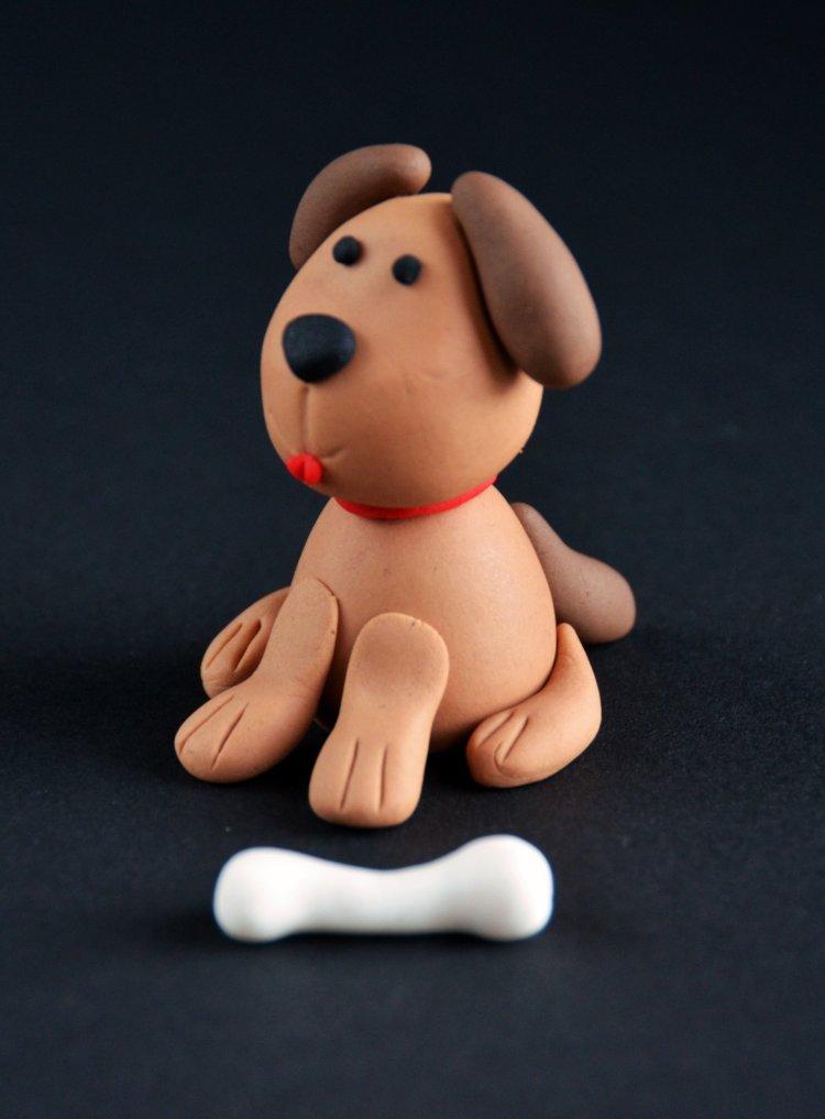 Fondant kutya készítése egyszerűen - kutyás torta