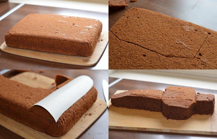Versenyautó torta faragása lépésről lépésre - fázisfotók