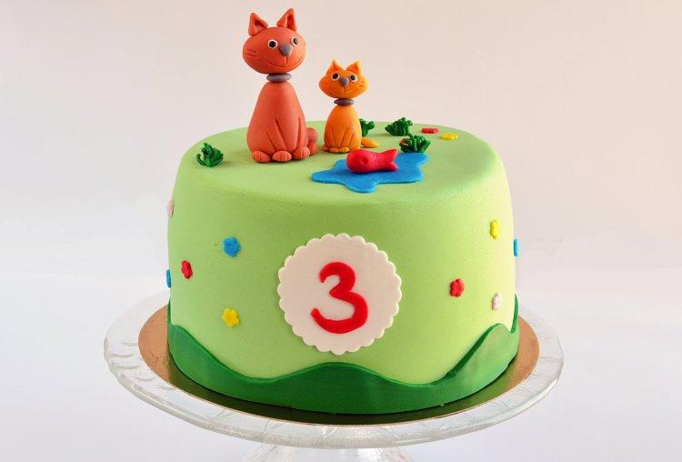 Cicás torta készítése cica figurával - fondant cica lépésről lépésre