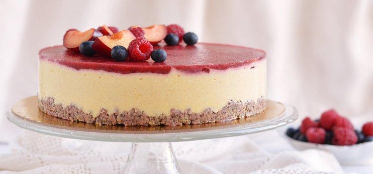cukormentes epres vanília mousse torta recept mákos piskótával