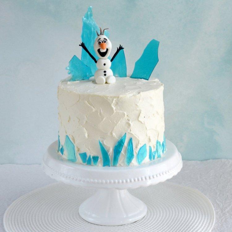Cukorüveg készítése - jéghegyek a Jégvarázs tortára