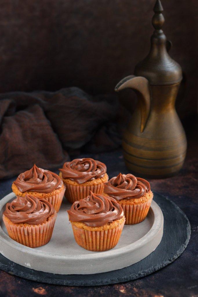 mogyorókrémes cupcake recept - mogyorós-csokis muffin készítése