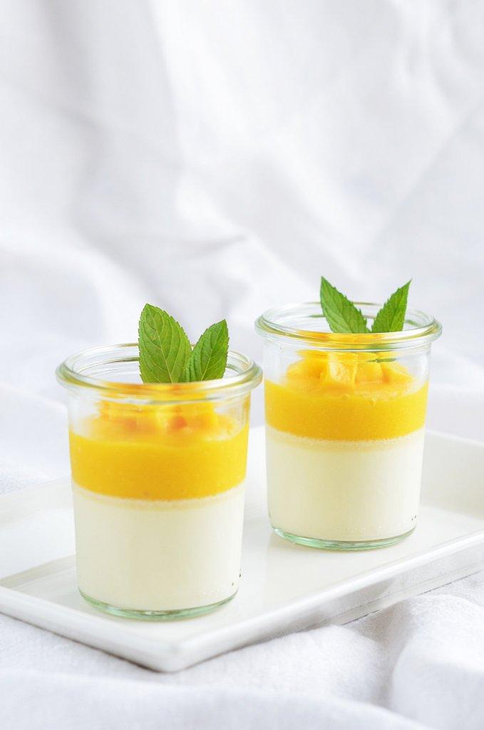 Mangós panna cotta cukormentesen, egyszerűen - recept