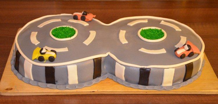 autópálya torta - Forma-1 autós torta