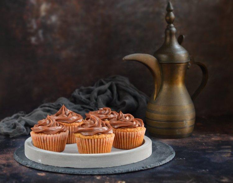 mogyorókrémes cupcake recept - mogyorós muffin készítése