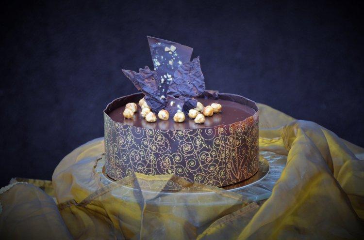 Mintás csokigallér, csokiköpeny készítése transzferfóliával