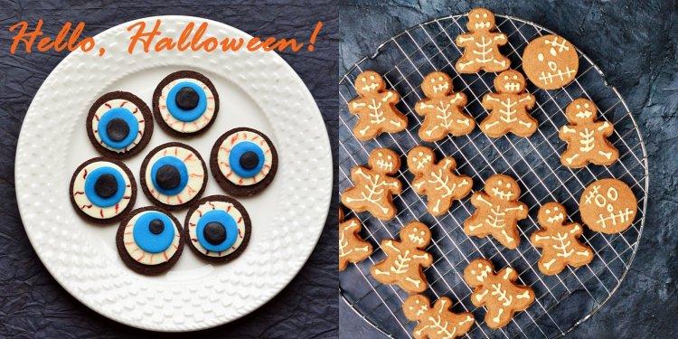 Halloween-i véres szemek oreo-ból egyszerűen - csontváz kekszek