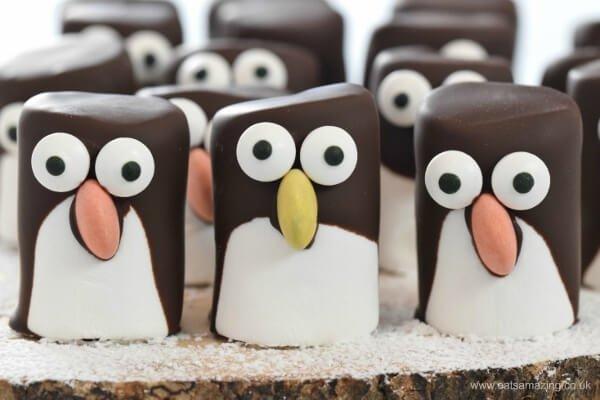 Pillecukor pingvin készítése adventra - jópofa ötletek adventi naptárba