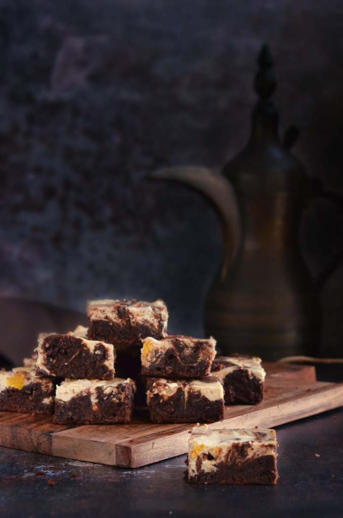 Barackos-túrós brownie