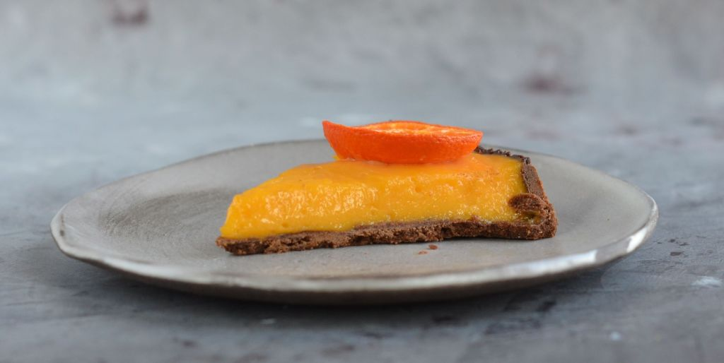 mandarin curd pite - mandarinkrémes tart