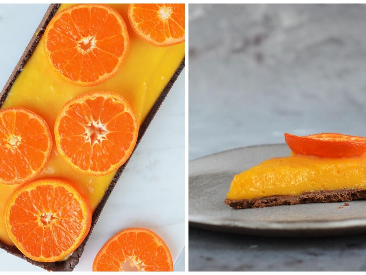 mandarinkrémes tart - mandarinpite