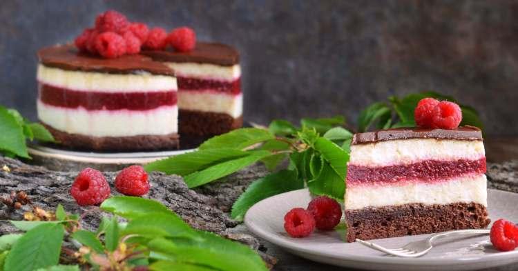 mogyorókrémes-málnás tejbegríz mousse torta recept