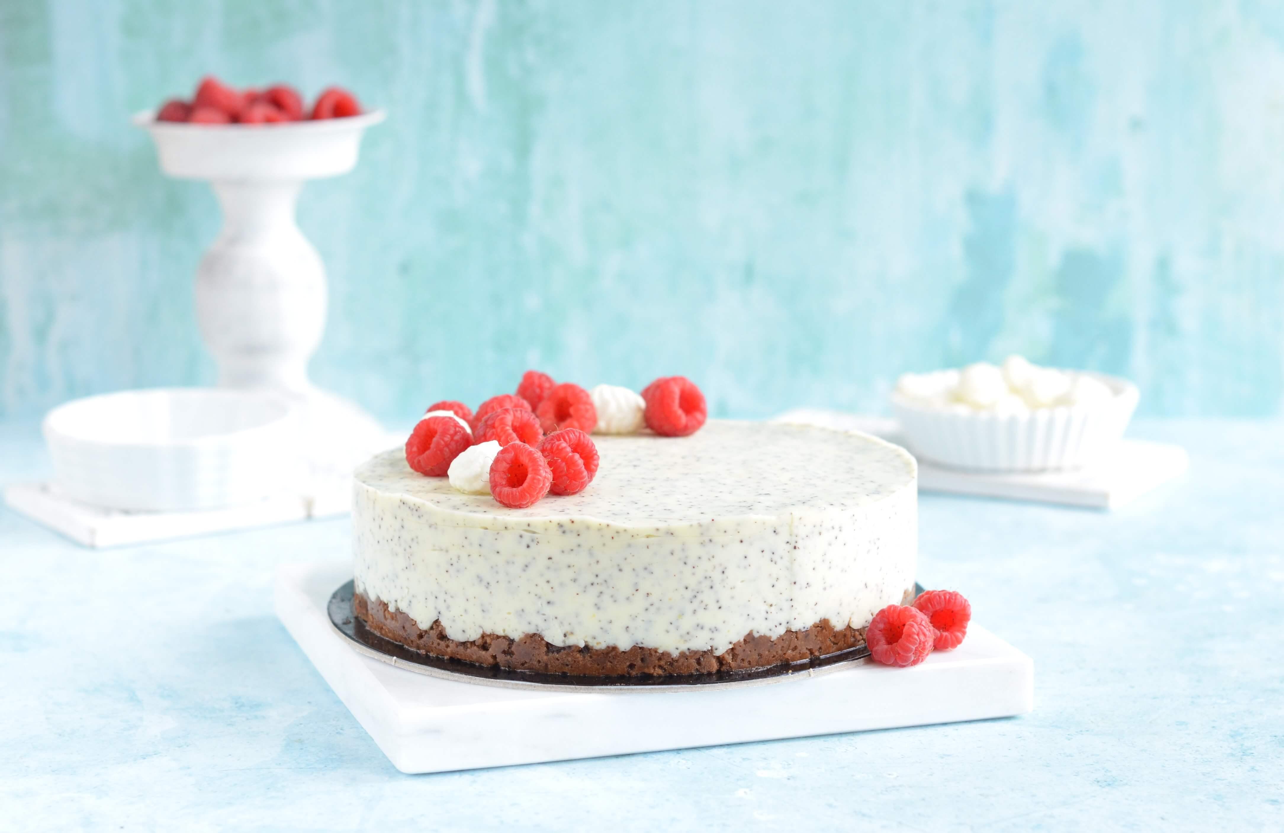 citromos-mákos namelaka torta cukormentesen és gluténmentesen