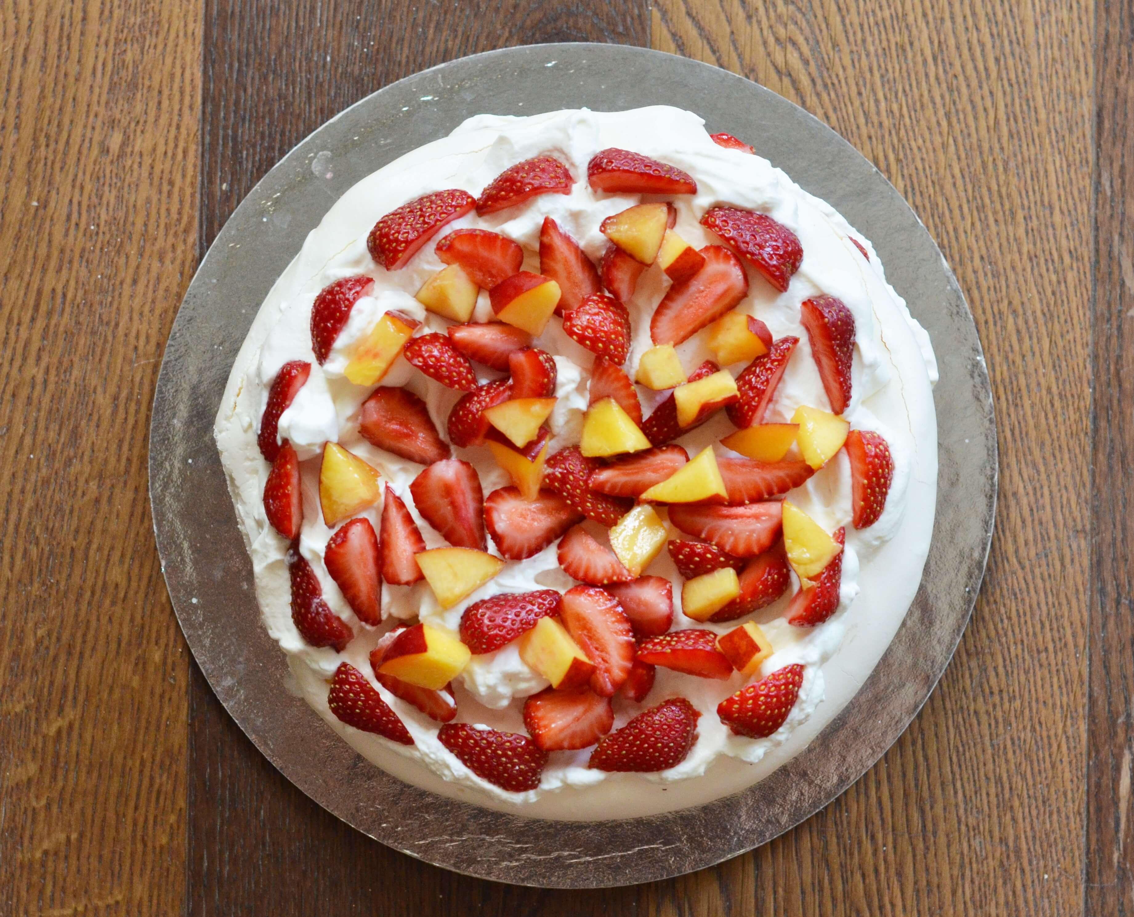 több szintes pavlova-torta készítése házilag